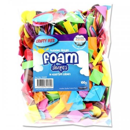 Crafty Bitz 100g Bag Assorted Foam Shapes
