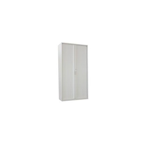 Talos Steel Tambour Unit 1950mm High - WHITE
