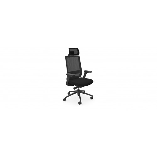 X55 High Back Mesh Swivel Operators Chair with headrest and Adjustable Arms