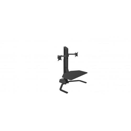 Xtend Desk Converter Double Monitor Arm Black