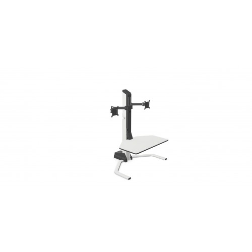 Xtend Desk Converter Double Monitor Arm WHITE