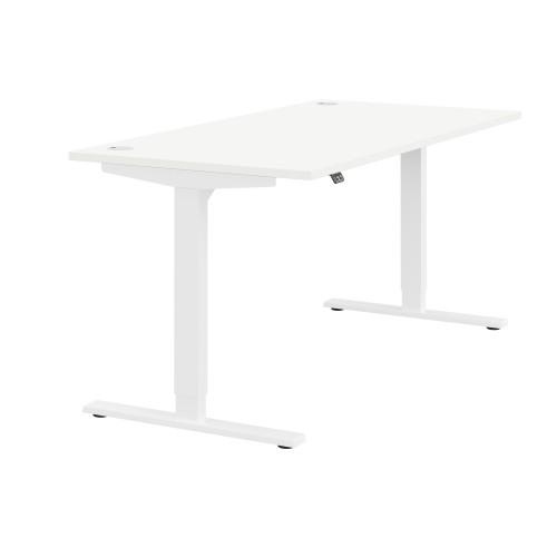 Zoom Height Adjustable desk 1200*800mm White Frame white top