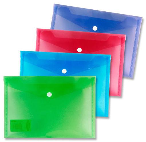Plastic Button Wallets