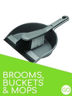 brooms mops and buckets