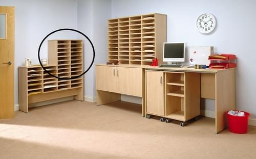 Pigeon Hole Extension Unit 12 Compartments 2x6 Beech