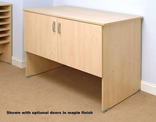 Mailroom Table With Shelf For Pigeon Hole Storage 1280x700x880mm Beech