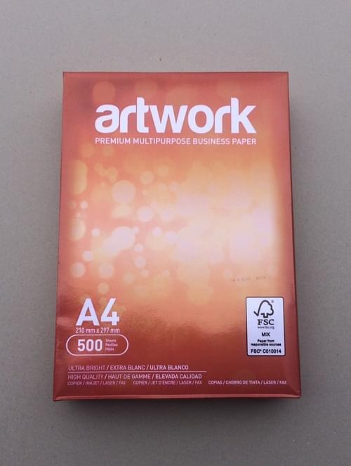 Artwork A4 White Premium Printer Paper (Bx 5 x 500 sheets)