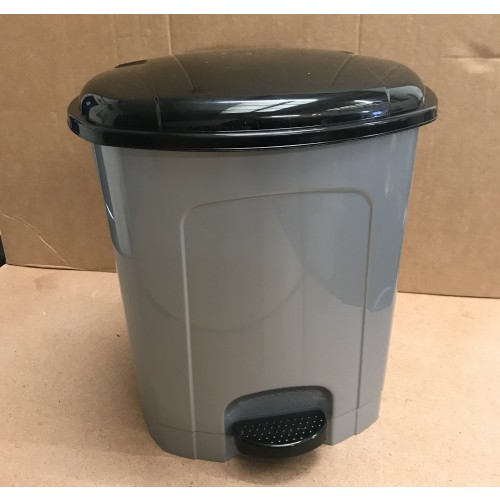 Octopus Office Pedal Bin with Removable Bucket 10 Litre Silver/Black