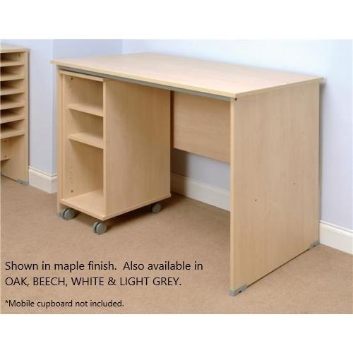 Mailroom Table For Pigeon Hole Storage - Oak Finish