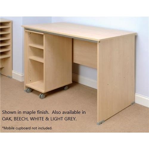 Mailroom Table For Pigeon Hole Storage - White Finish