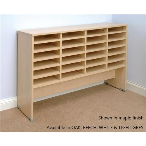 Pigeon Hole Storage Mailsorter, 24 Compartments 4x6 Bays, Beech