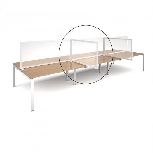 Polyvinyl Desk divider Screen 1200mm Wide x 2000mm High