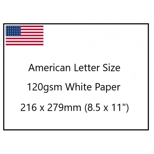 American Quarto 120gsm White Printer Paper 279x216mm (pk250)