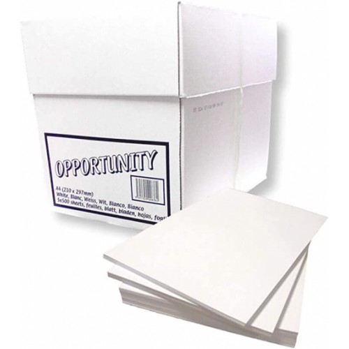 A4 White Box Copier - Opportunity A4 210mm X 297mm Pack of (5) 500 sheets ( 5 Reams 1 Box)
