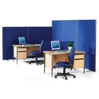 Most Popular - Floor Standing & Desk Fabric Screens - Pick Your Colour