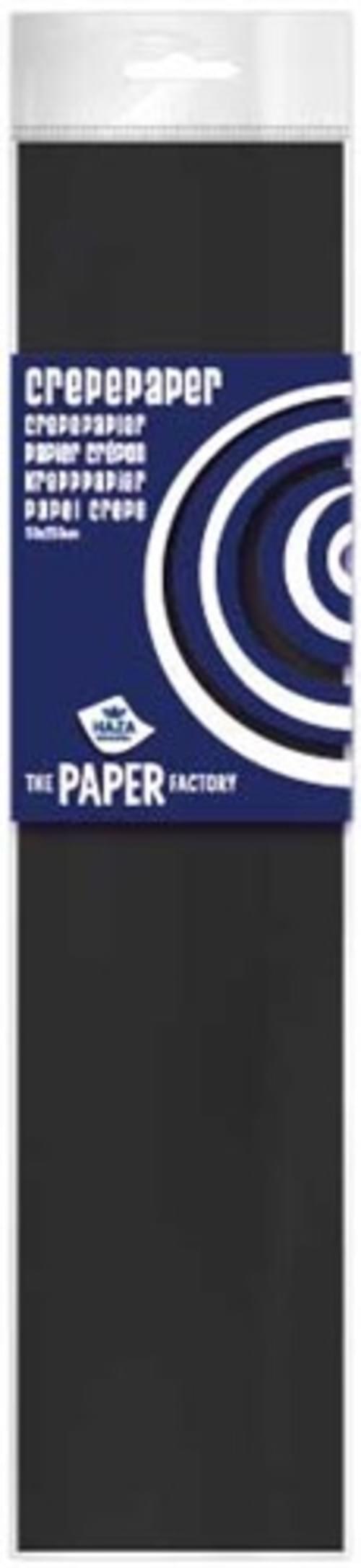Crepe Paper Black  10pk
