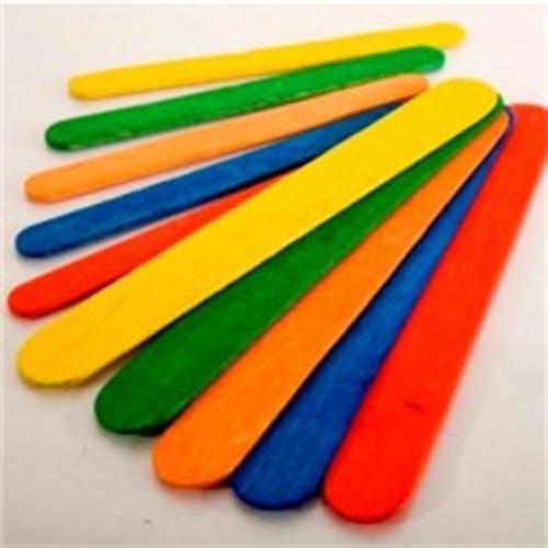 Jumbo Craft Sticks coloured 100pk