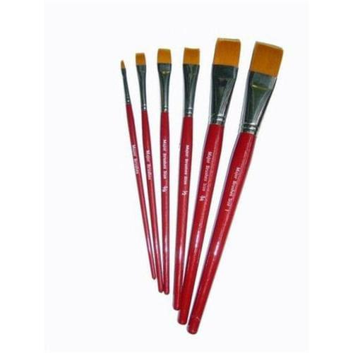 Red Synthetic Sable 1/2 '' Flat Tip Brush 10pk