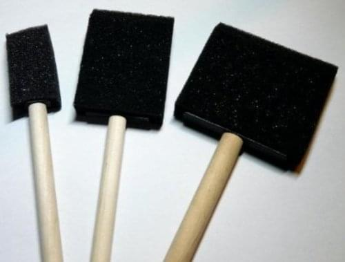 Astd Wooden Handle Foam Brush Set of 3