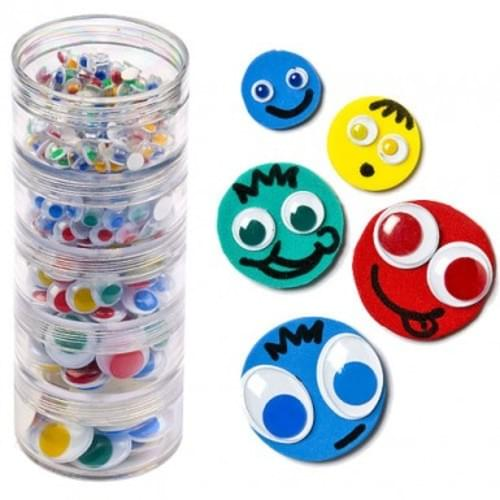 Coloured Wiggly Eye Stack Pack