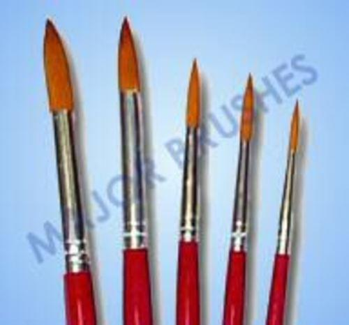 Red Synthetic Sable Brushes set of 5(2,4,6,8,10)