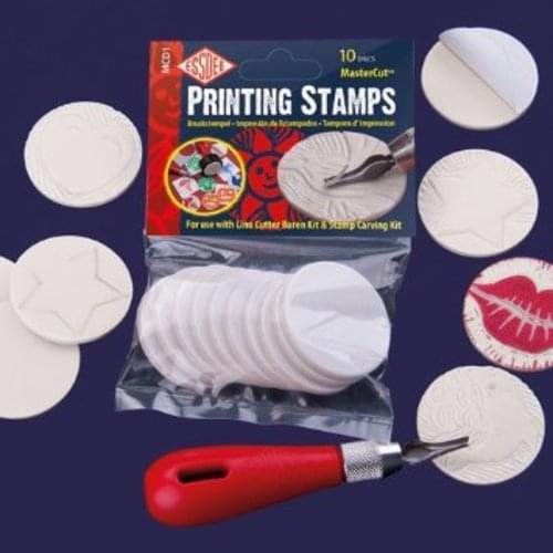Printing Stamps bag of 10 Mastercut Discs 45mm