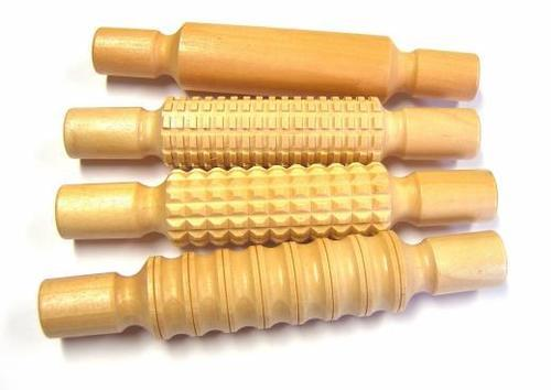 Wooden Rolling Pin Set of 4 (21cm)