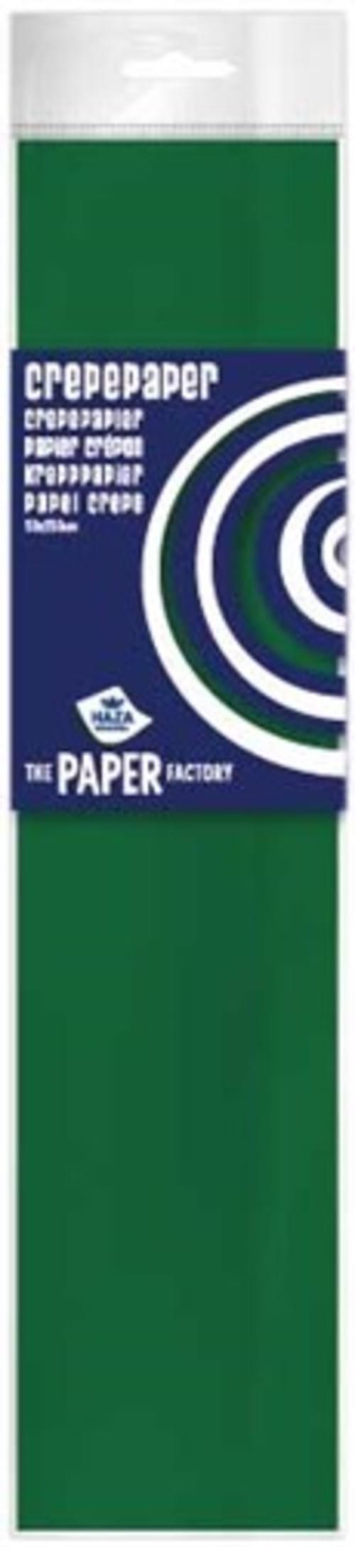 Crepe Paper Xmasgreen  10pk