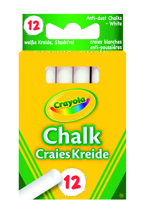 12 Anti Dust White Chalk