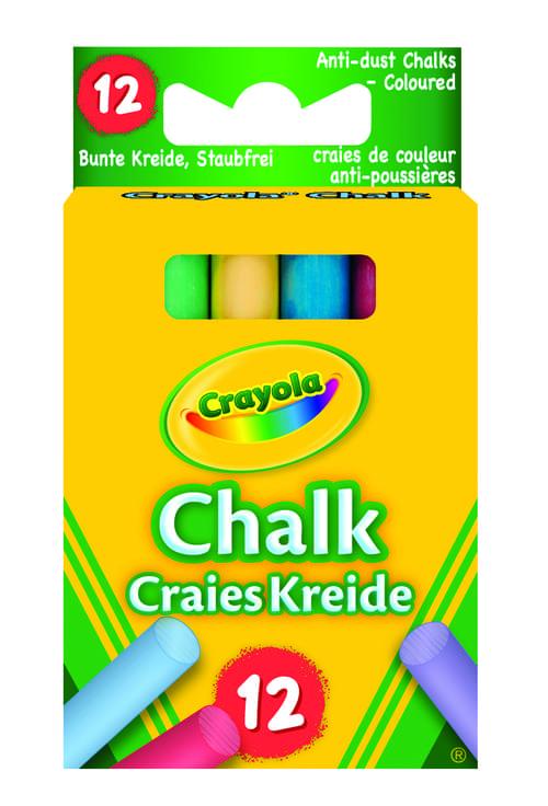 12 Anti Dust Coloured Chalk
