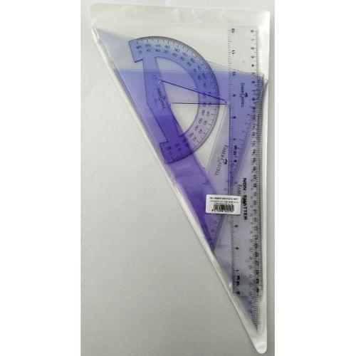 DRAWING SET WITH RULER -PROTRACTOR + 2 SET SQUARES