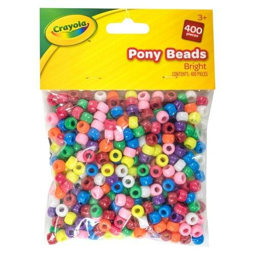 Crayola Craft-Pony Beads Bright 400 pces