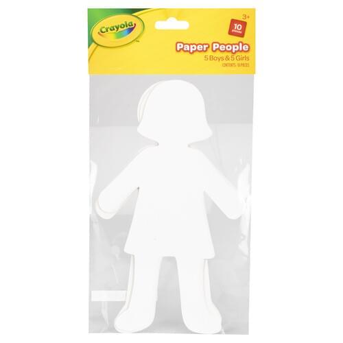 Crayola Craft-Paper People Boys & Girls 10 pces