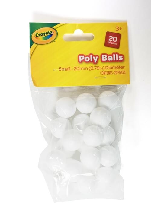 Crayola Craft-Poly Balls Small-20mm 20 pces