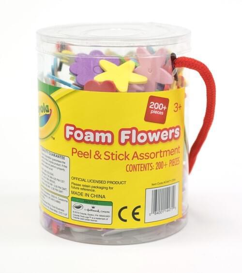 Crayola Craft-FoamFlowers Astd shapes & sizes peel & stick