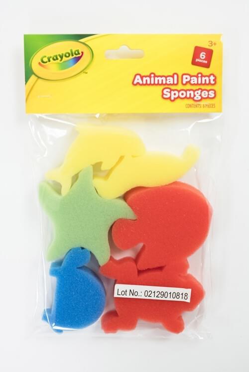 Crayola Craft-Animal Paint Sponges 6pces