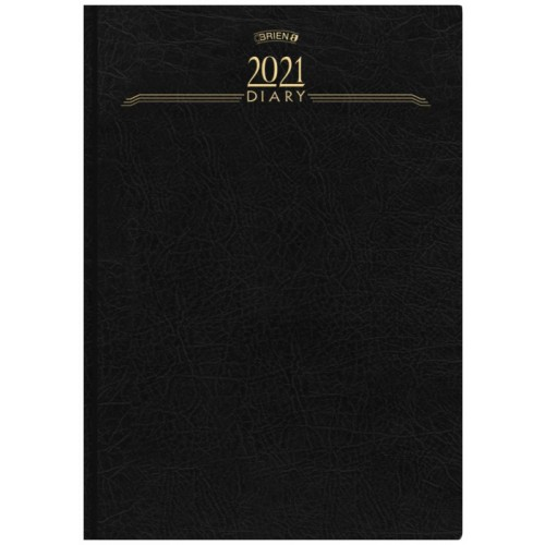 A4 2 PAGES TO 1 DAY, DESK DIARY 2021