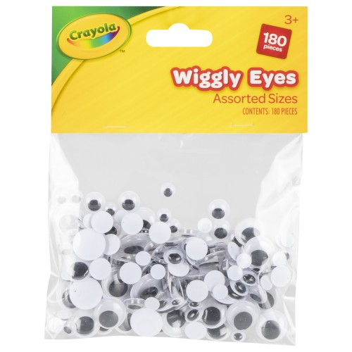 Crayola Craft-Wiggly Eyes 180 pce