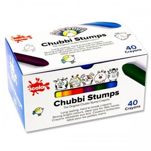 SCOLA CHUBBI STUMPS  CRAYONS (40)