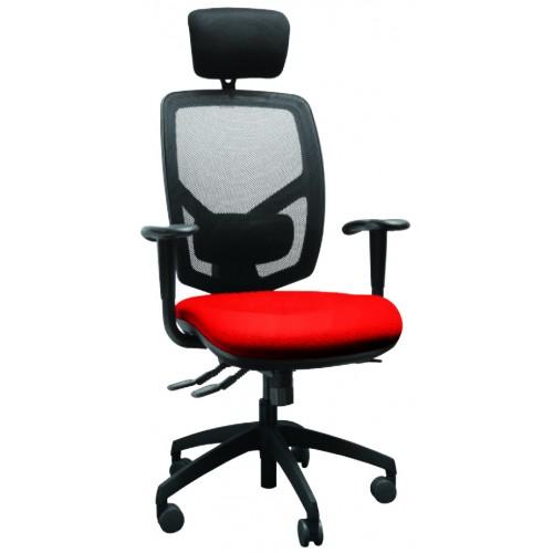 High Mesh Back Executive Armchair with Headrest