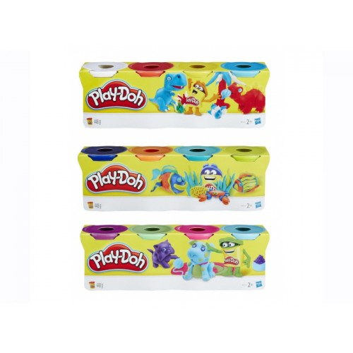 Play-Doh Classic Colour  Pk4 Assorted