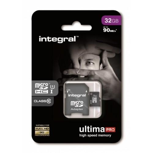 32GB INTEGRL MICRO SDHC + SD ADAPTOR