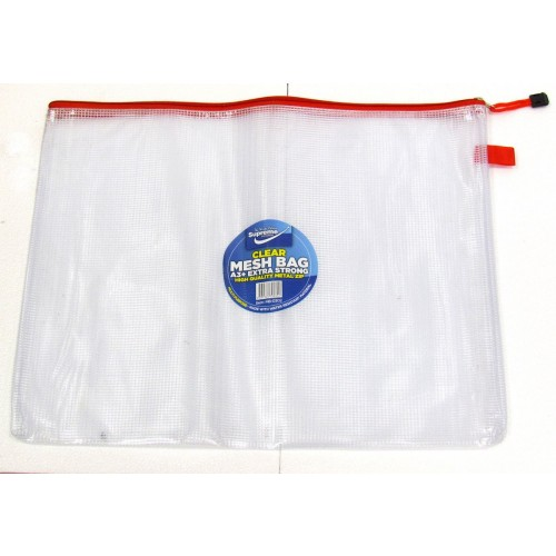 Supreme Stationery Clear Mesh Bag A3+ Extra Strong