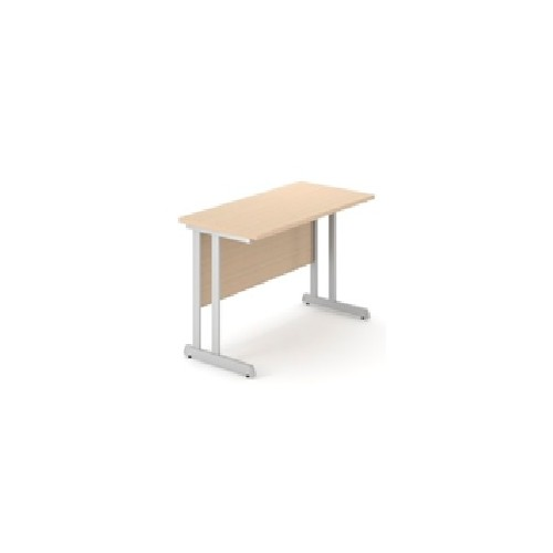 N3+ Straight Desk 1000x600 cant. - Beech