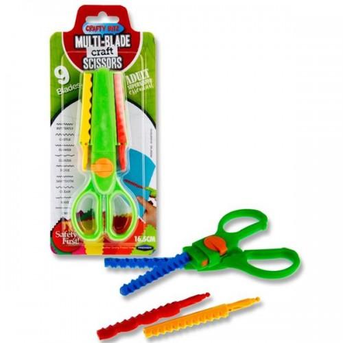 Crafty Bitz Multi-blade Craft Scissors - 9 Patterns