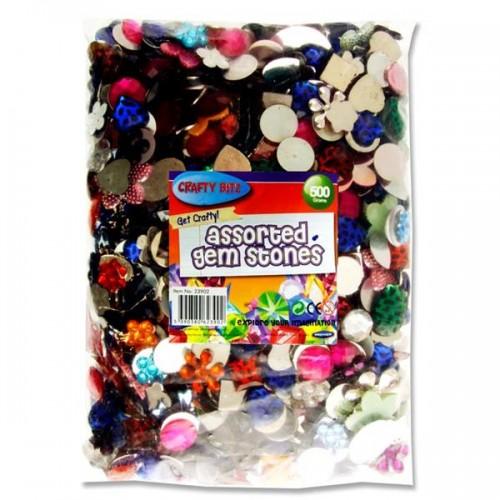 Crafty Bitz 500g Bag Assorted Gem Stones