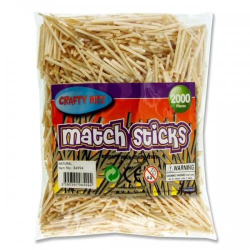 Crafty Bitz Bag 2000 Matchsticks - Natural