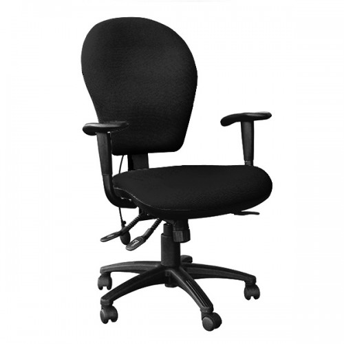 EDO High Back Posture Task Chair with extra wide seat in Black Havana Fabric