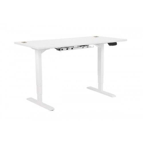 Electric Height Adjustable Desk White frame 1600 x 800 White top
