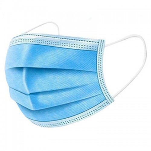 Medical Face Masks Blue 3 Ply CE Certified Pk 50